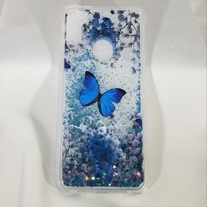 New Galaxy A11 Bling Blue Butterfly Cell Case YB
